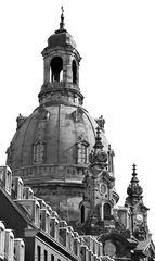Frauenkirche Dresden schwarz-weiß