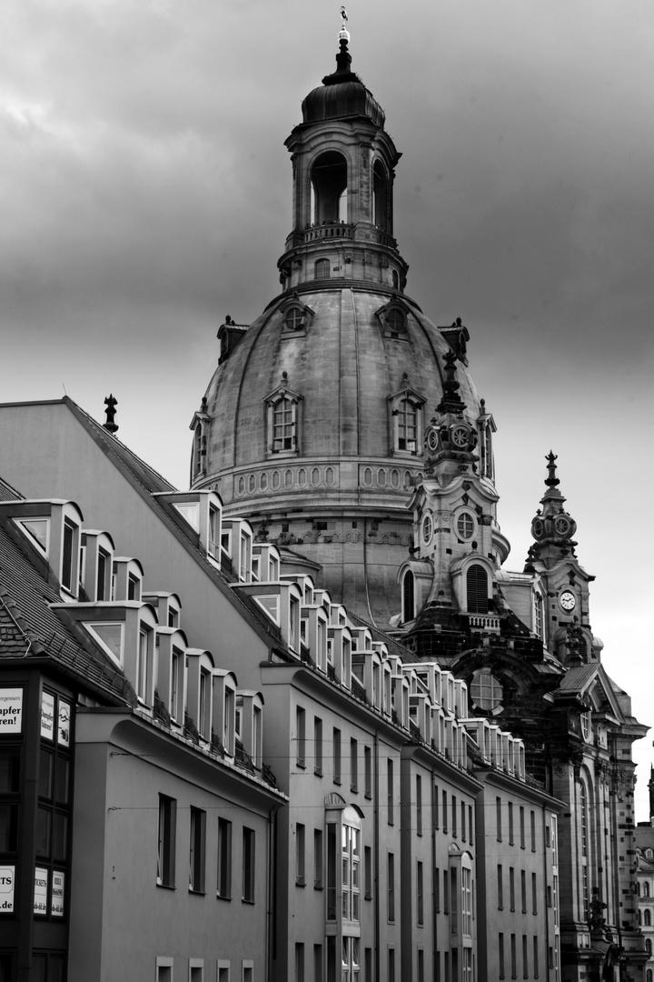 Frauenkirche im stillen Blickwinkel