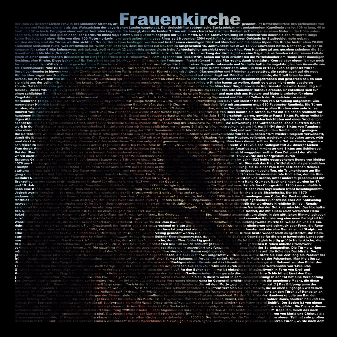 Frauenkirche Typo