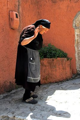 Frauenportrait auf Kreta