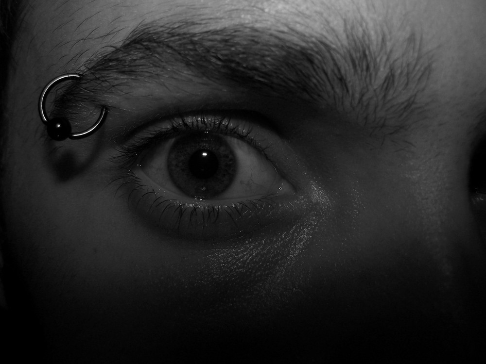 Frayeur dans l'oeil
