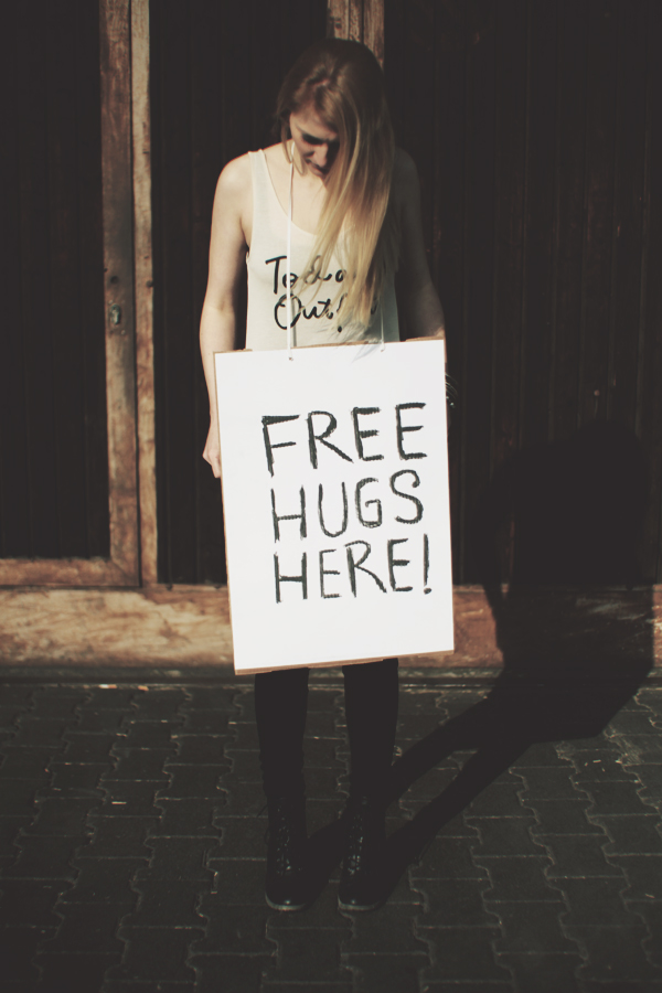 Free Hugs Here!