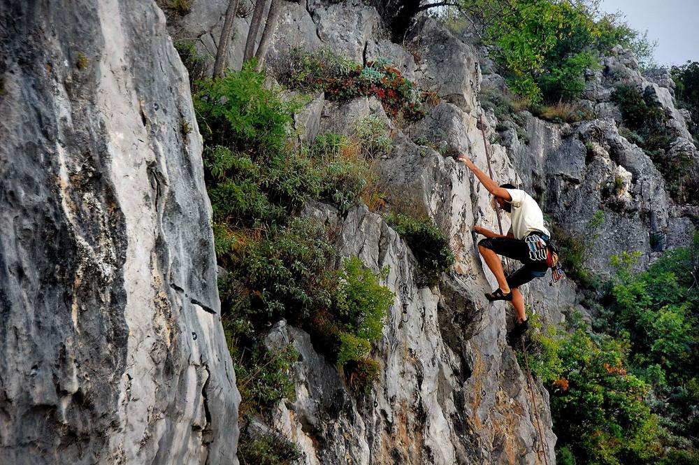 Freeclimbing im Karst