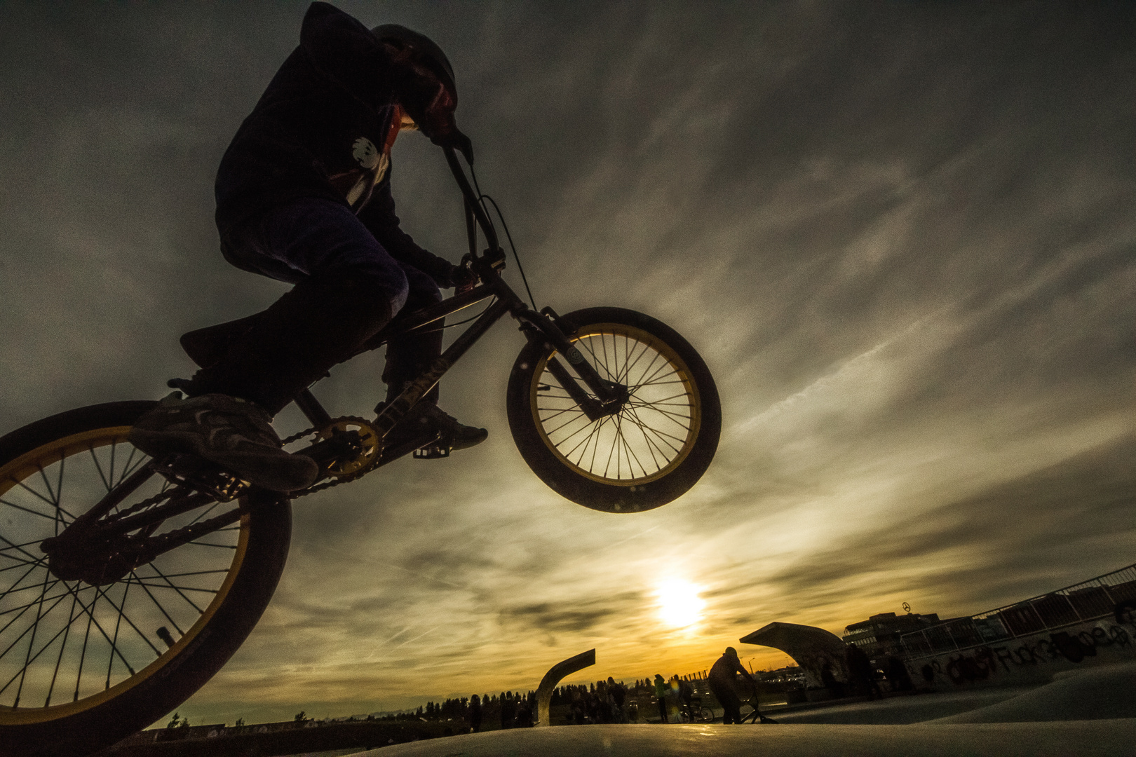 Freestyle at sunset