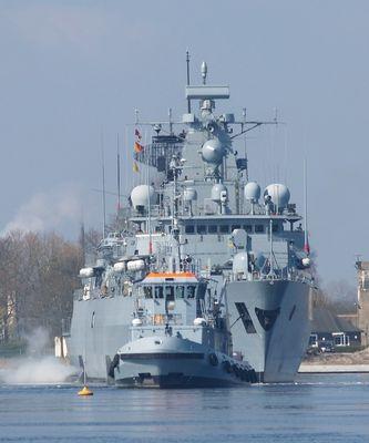 """Fregatte """"Brandenburg"""" bei der MES - Vermessung"""