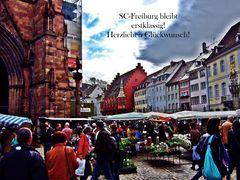 Freiburg freut sich...