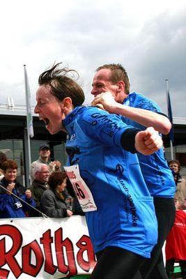 Freiburger Marathon 2005 - Freude im Ziel zu sein...