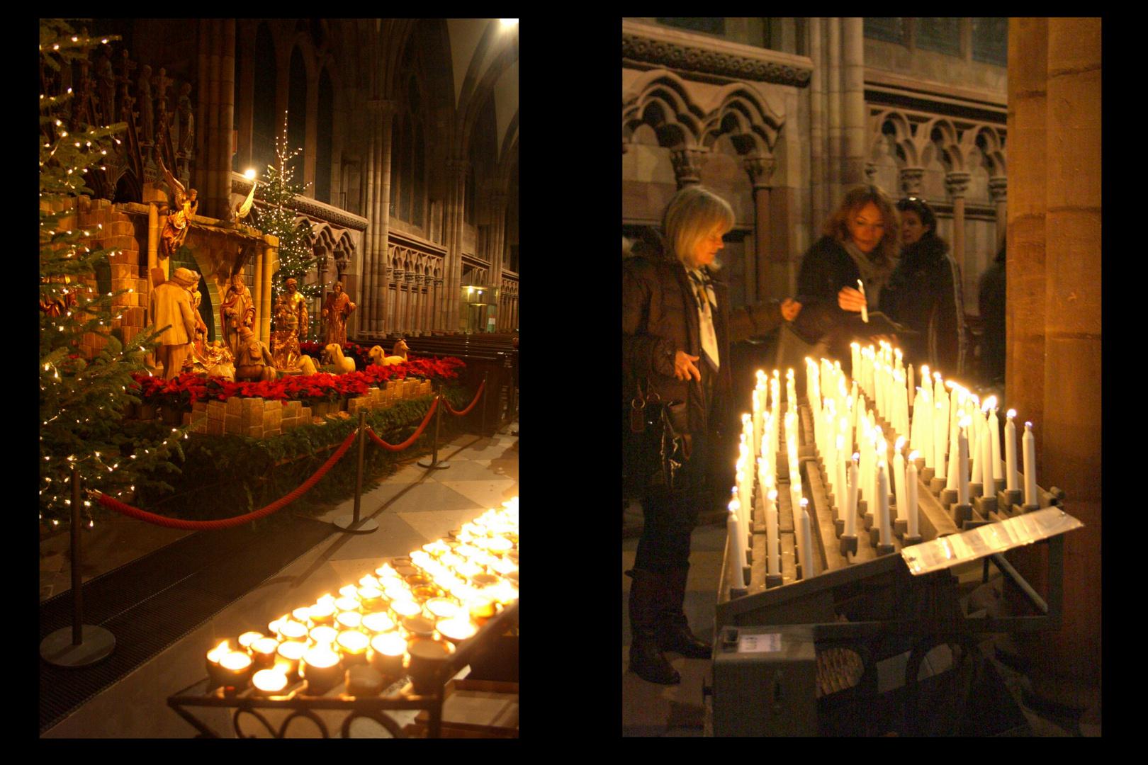 Freiburger Münster_Krippe + Kerzen
