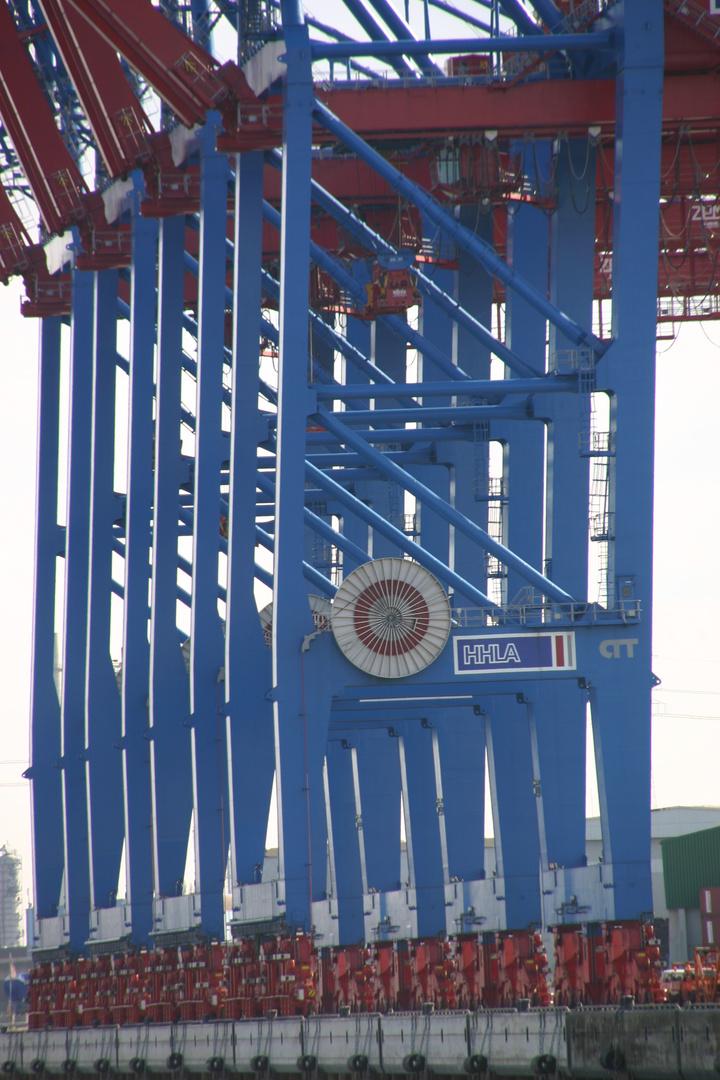 Freie und Hansestadt Hamburg -Kräne im Hamburger Hafen-
