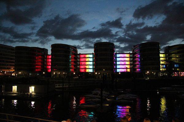 Freihafen bei Nacht