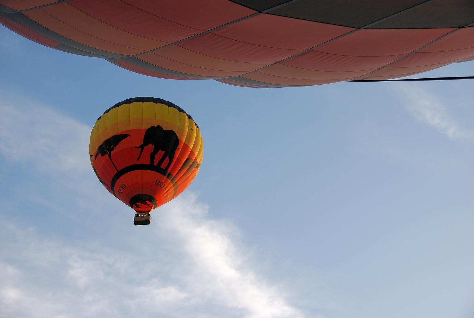Freiheit im Heißluftballon
