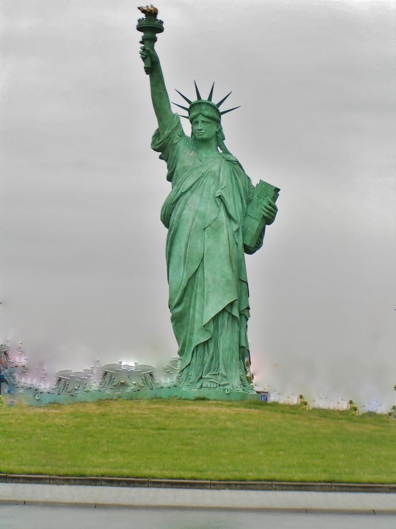 Freiheit statue in der geburtst stadt von Colmar -Elsass