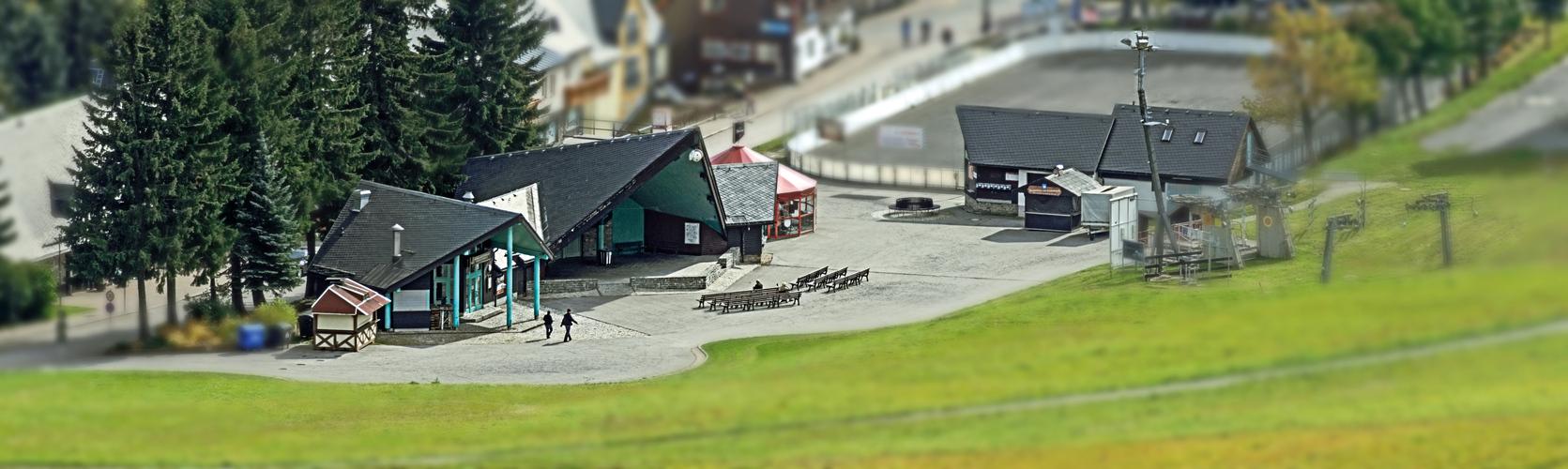 Freilichtbühne am Skihang in Oberwiesenthal