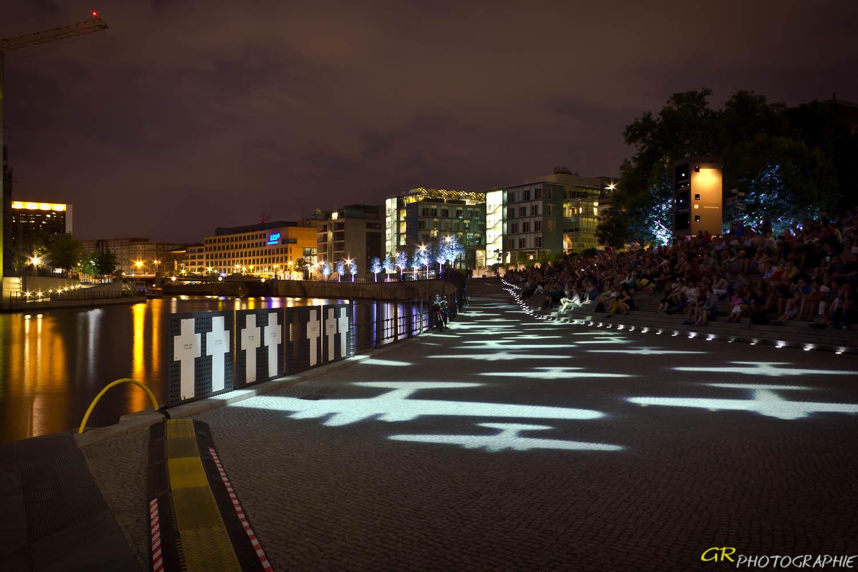 Freilichtkino im Regierungsviertel