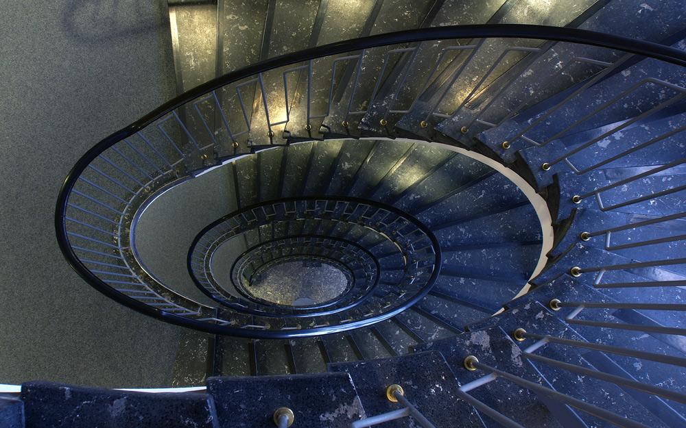 Freischwebende Treppe 2
