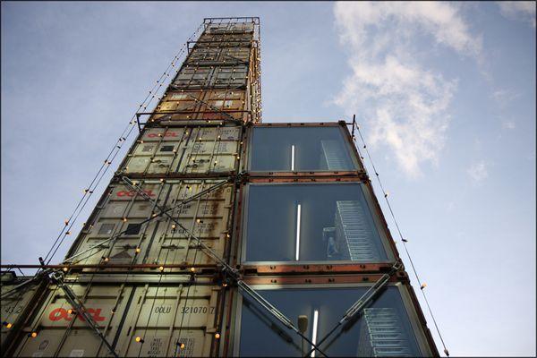 Freitag-Tower am Samstag