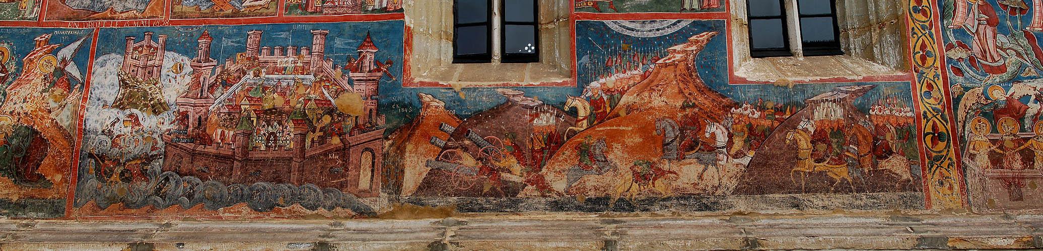 Fresko im Kloster Moldovita