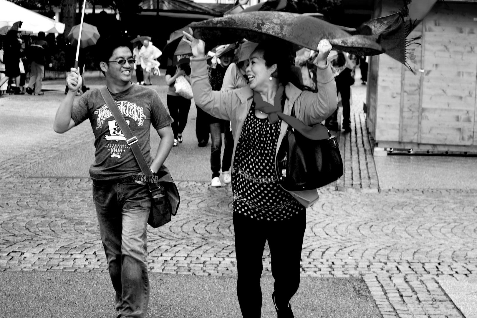 Freude im Regen