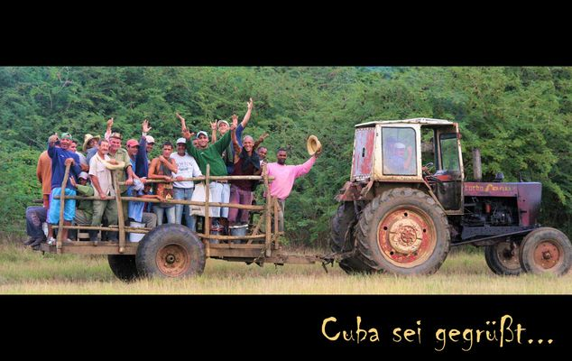Freundlihe Menschen auf Cuba