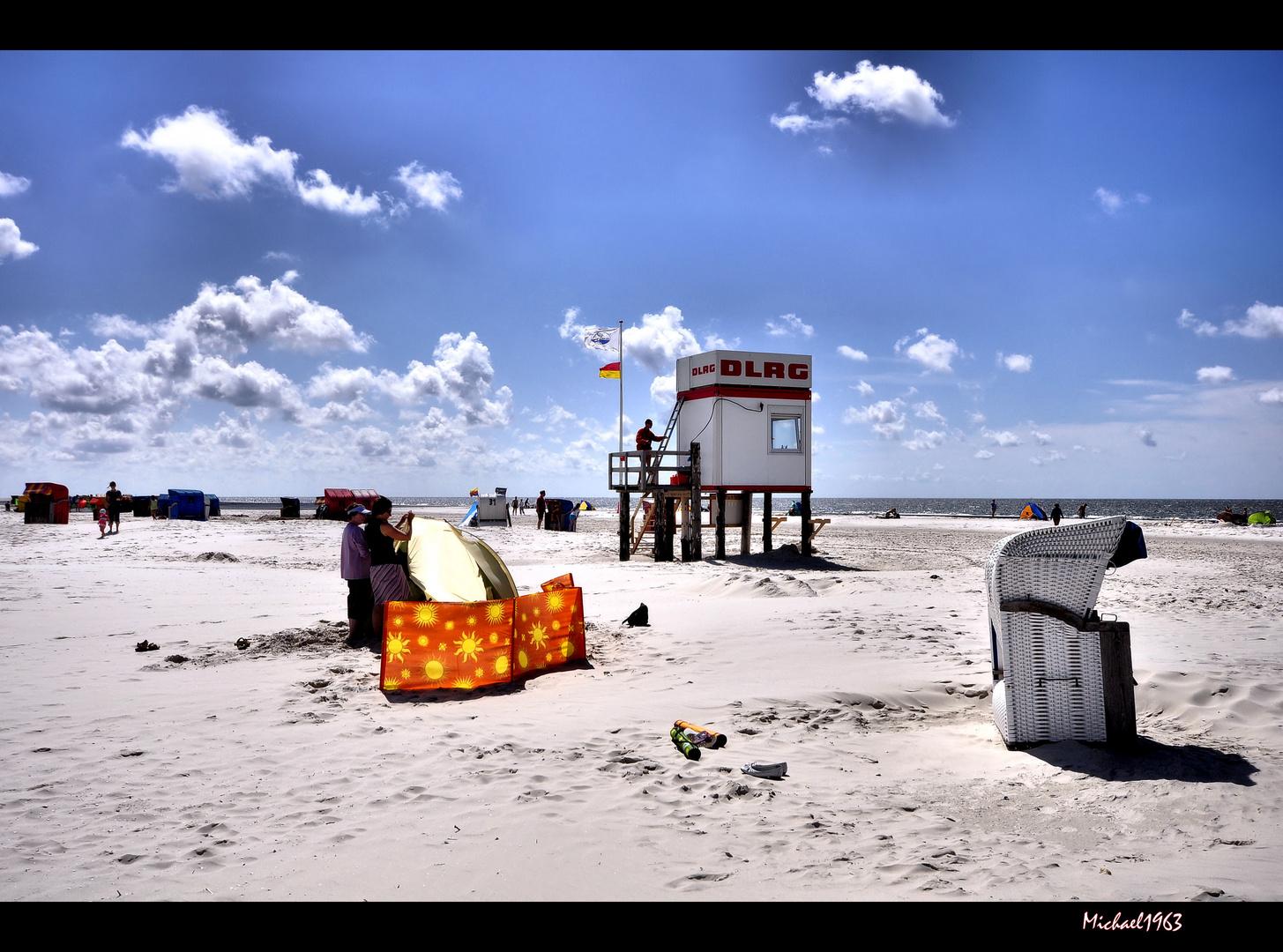 Freundschaft ist wie ein schöner Platz am Strand.....