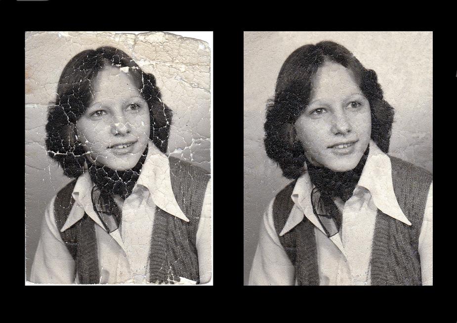 Freundschaftsbild 1975 Vorher-Nachher