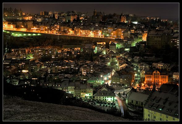 Fribourg at night