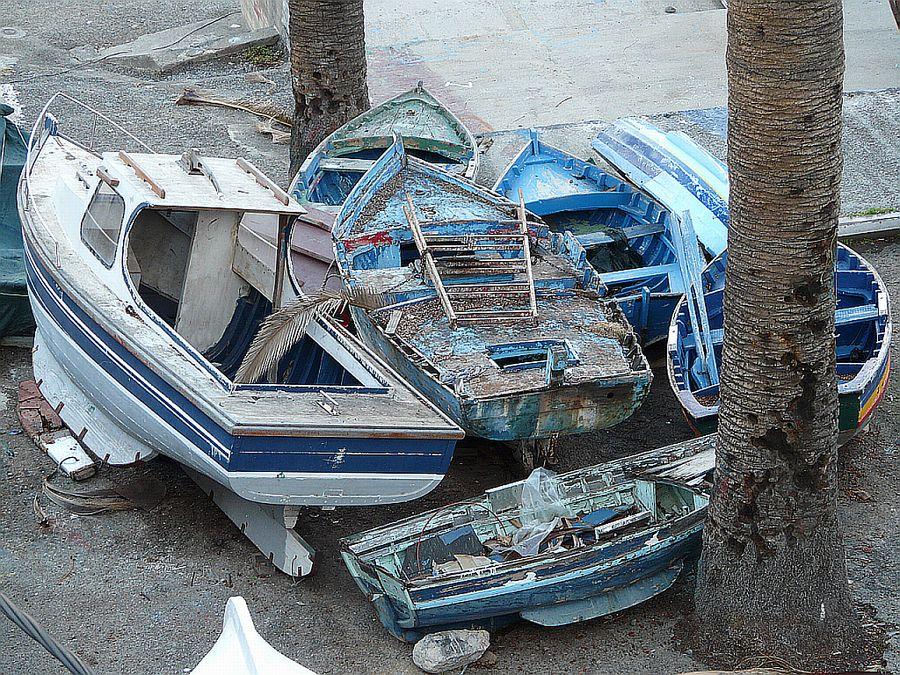 Friedhof der Fischerboote
