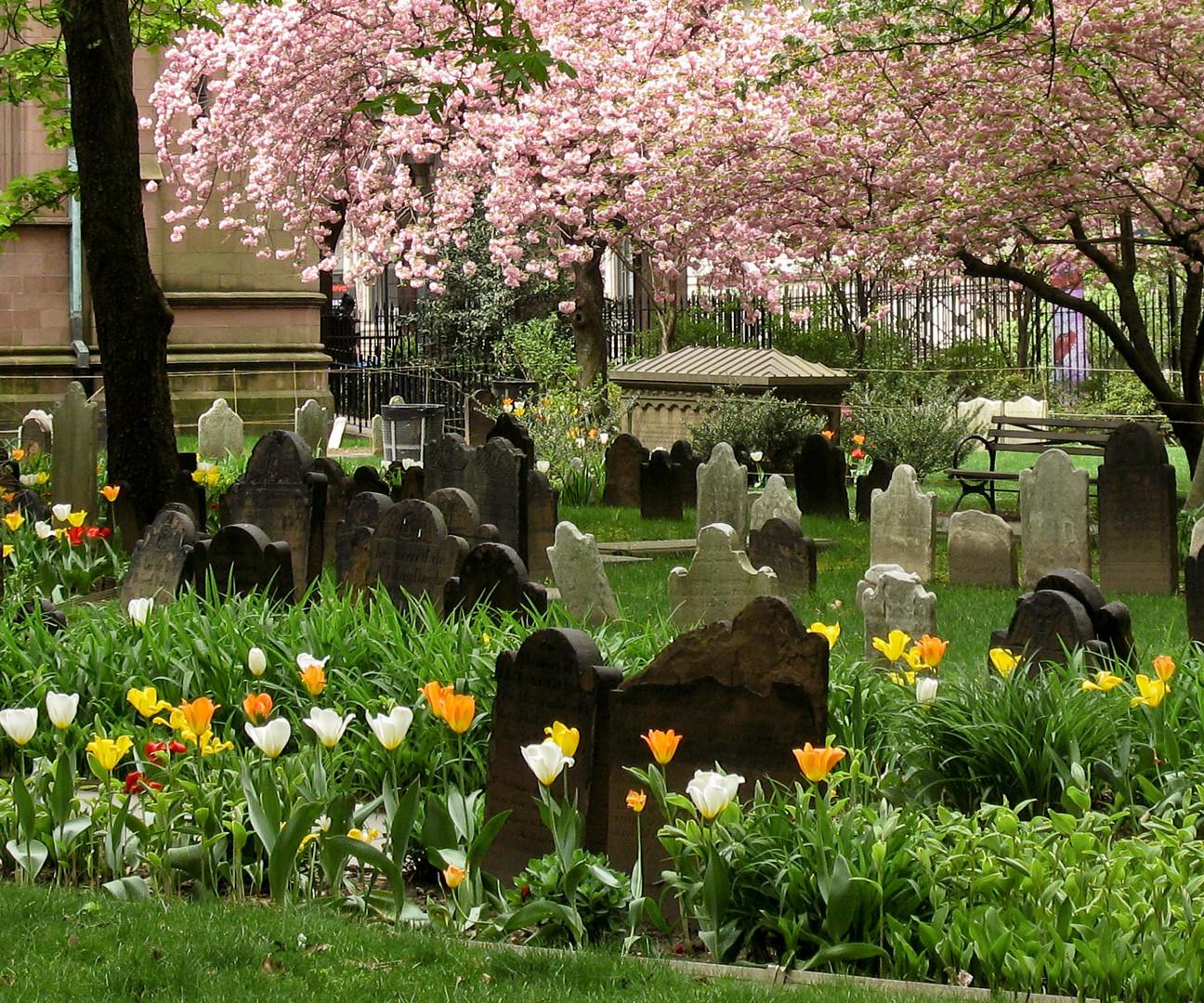 Friedhof der Trinity Church in New York
