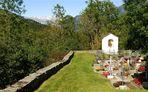 Friedhof Surcasti (GR/CH) in der Val Lumnezia