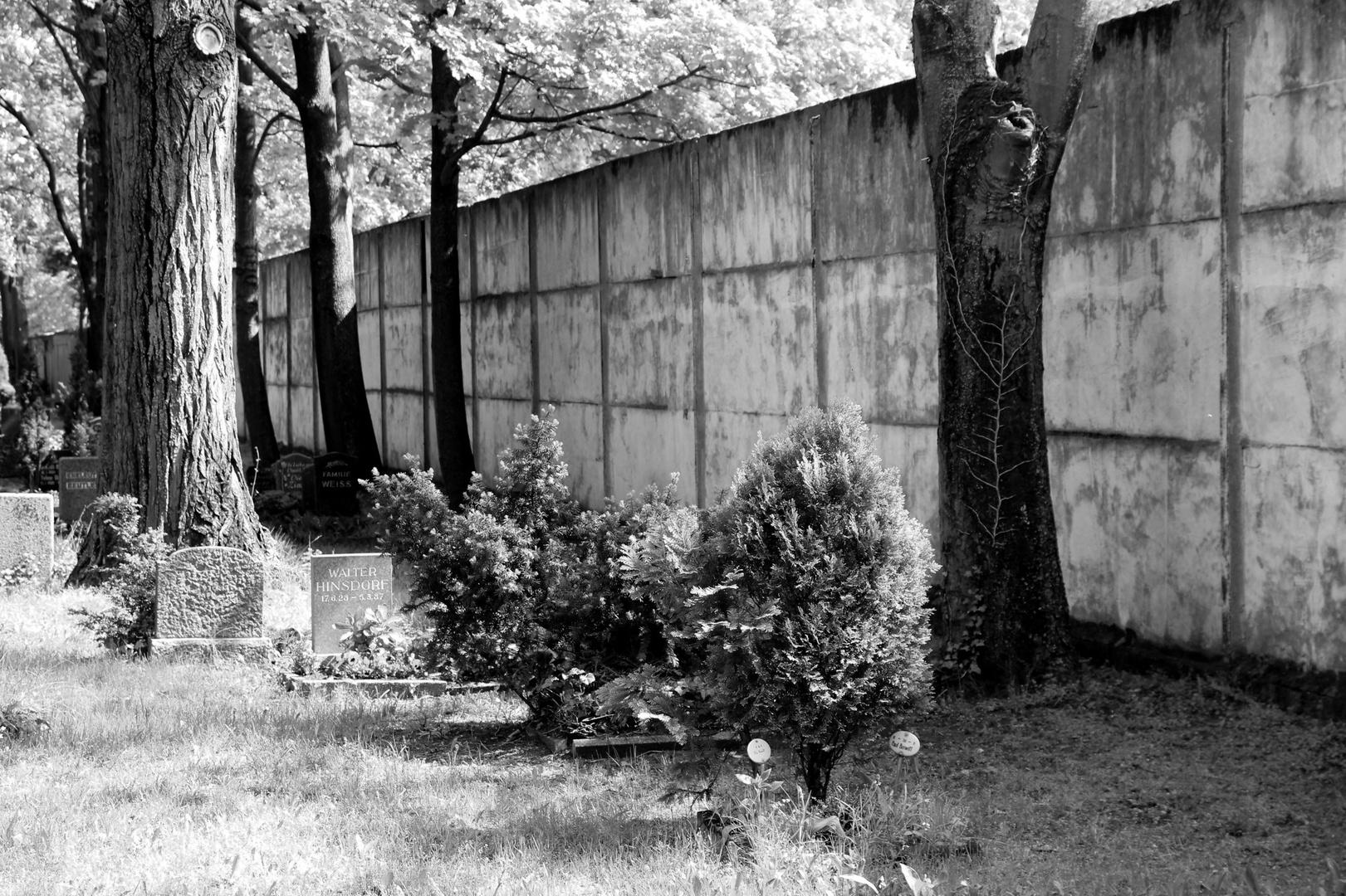 Friedhof und Mauer