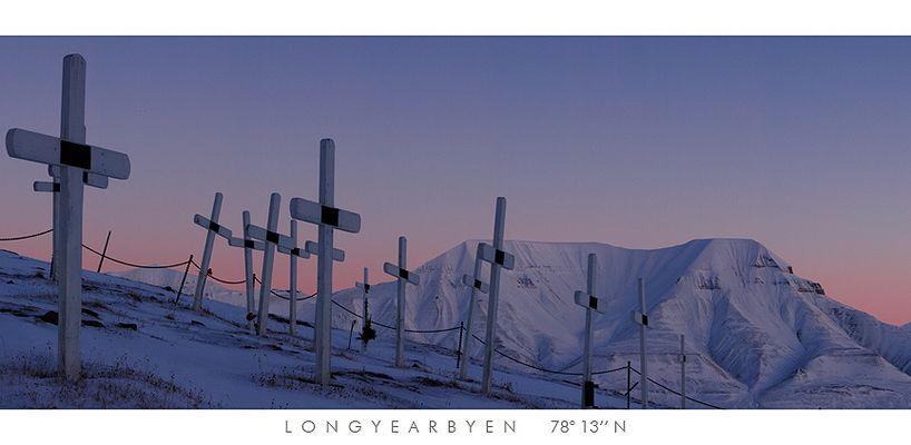 Friedhof von Longyearbyen (Spitzbergen) ...