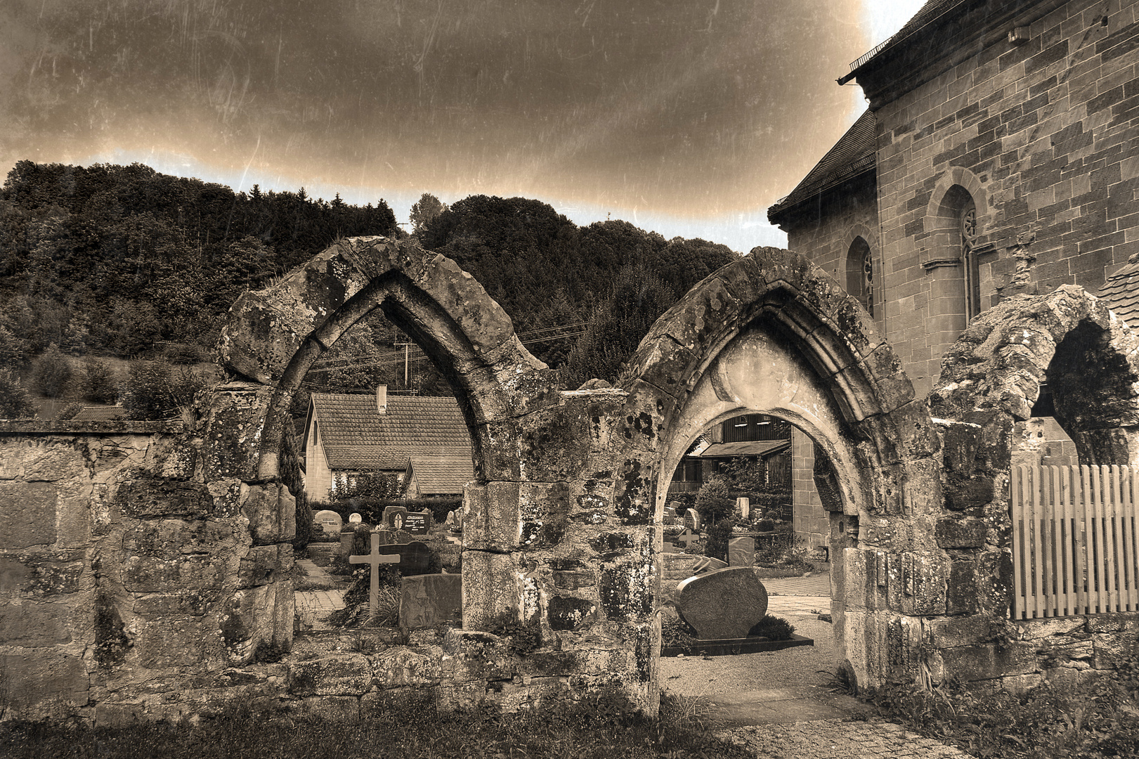Friedhofszene...