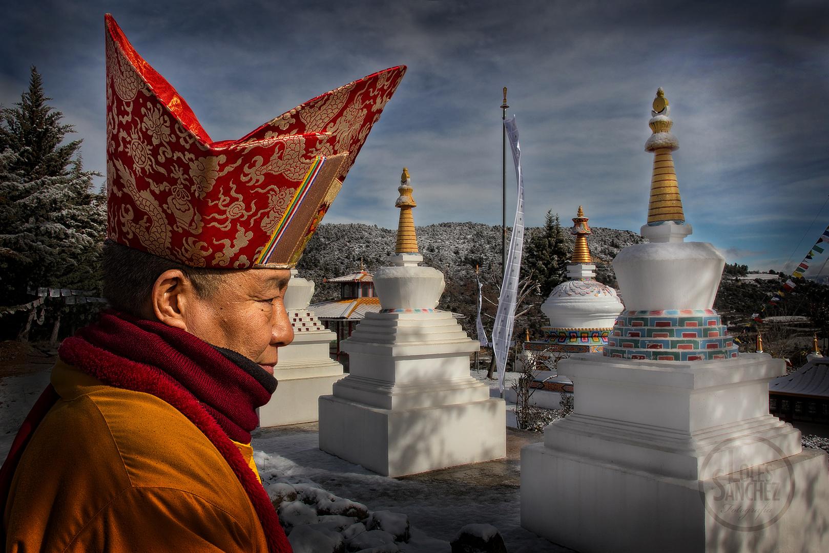 Frío día para la celebración del año nuevo tibetano. Panillo (Huesca)
