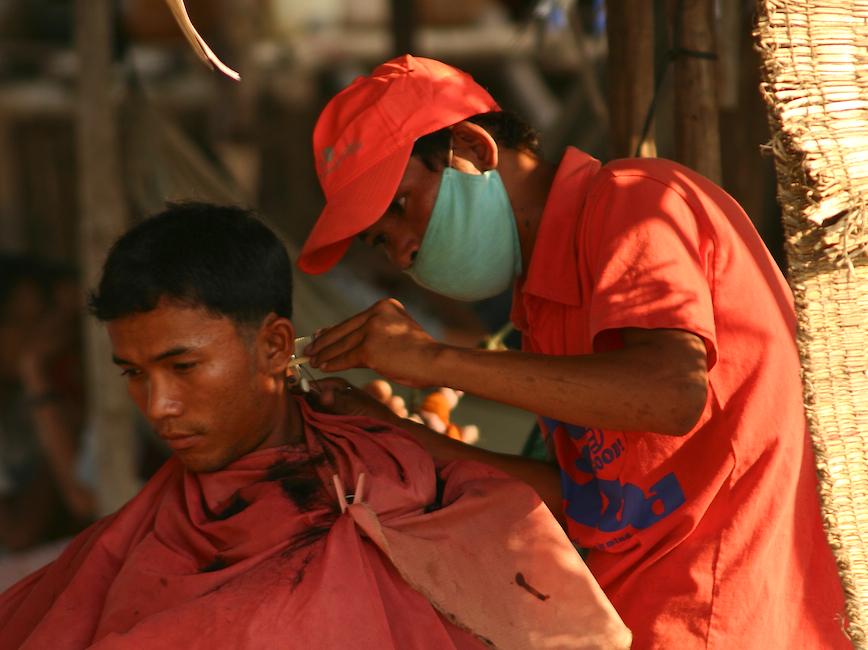 Friseur am Mekong