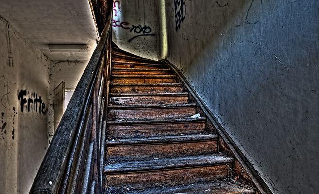Fritte oder Vorsicht Treppe gewachst