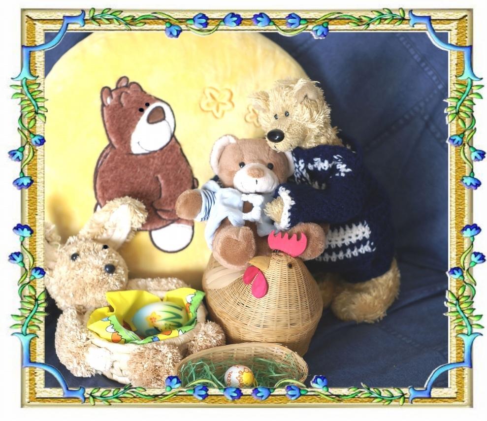 Fröhliche Ostern an alle Bären und die sie mögen