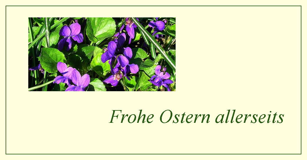 Frohe Ostern allerseits