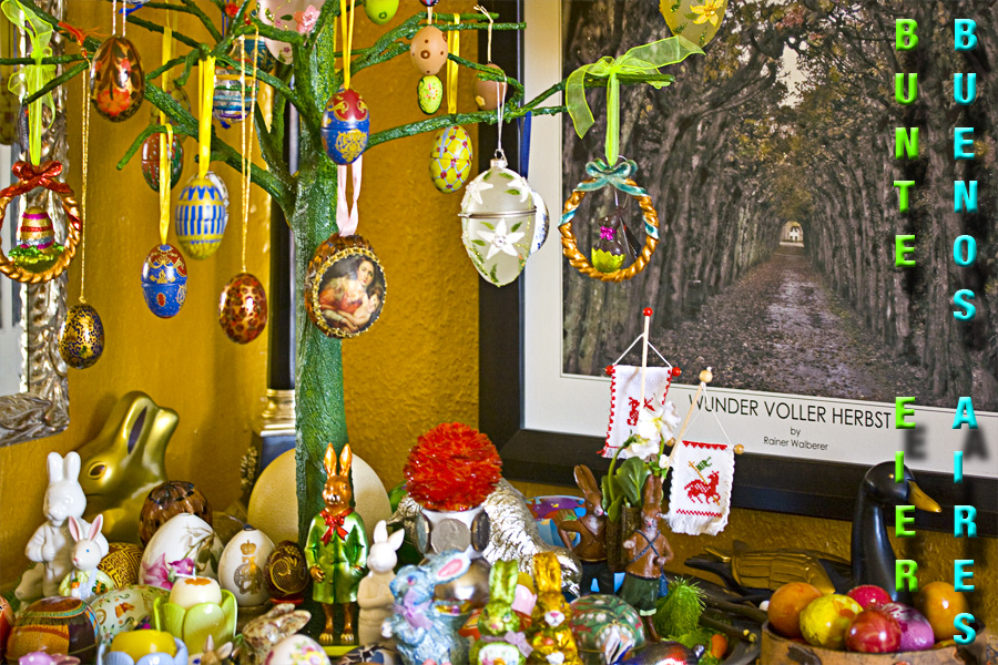 Frohe Ostern - Buenos Aires - Bunte Eier