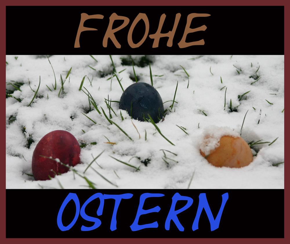 Frohe Ostern oder erleichterte Hasenspurensuche