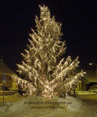 Frohe Weihnacht und ein gesegnetes 2010