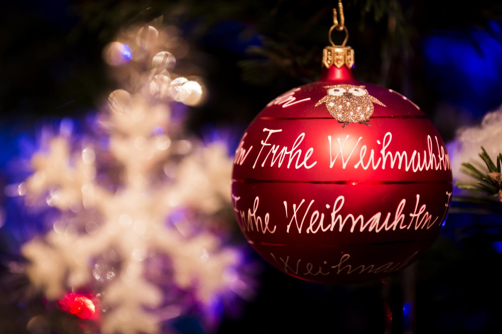 Frohe Weihnachten in Farben der Liebe...