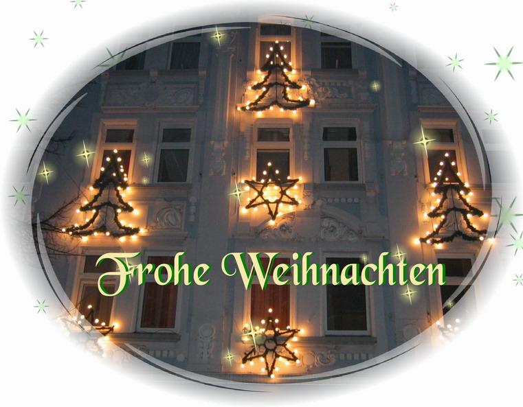 Frohe Weihnachten und einen gutes neues Jahr wünsche ich all meinen Buddies...