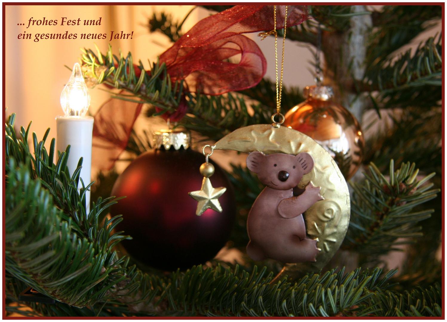 frohes Fest   oder der Koala im Christbaum ... ;)