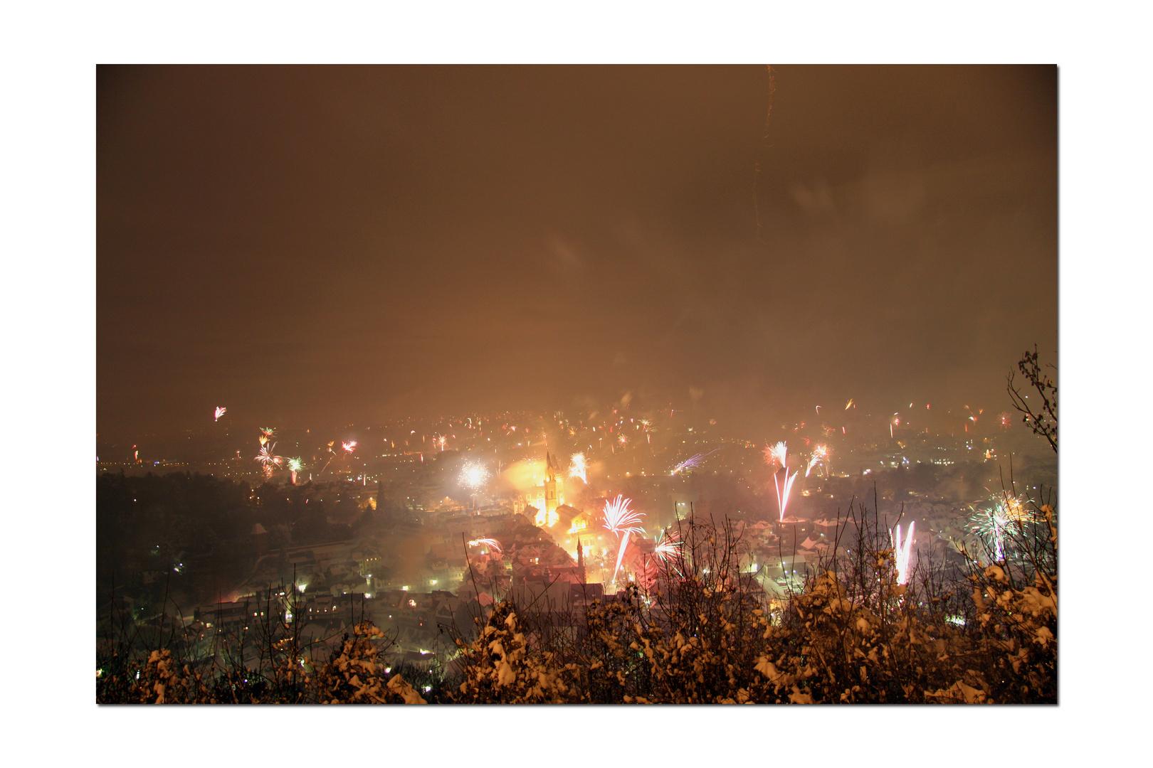 Frohes neues Jahr aus Weinheim