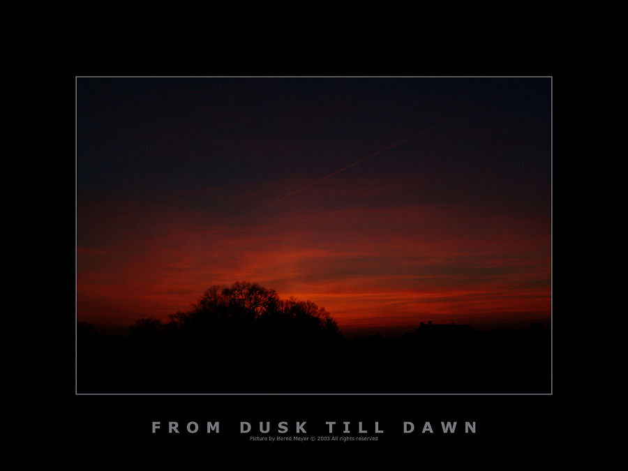from dusk till dawn...
