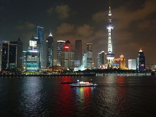 Front line line du quartier Pudong by night