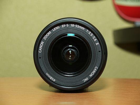 Frontfoto eines Canon-Objektives