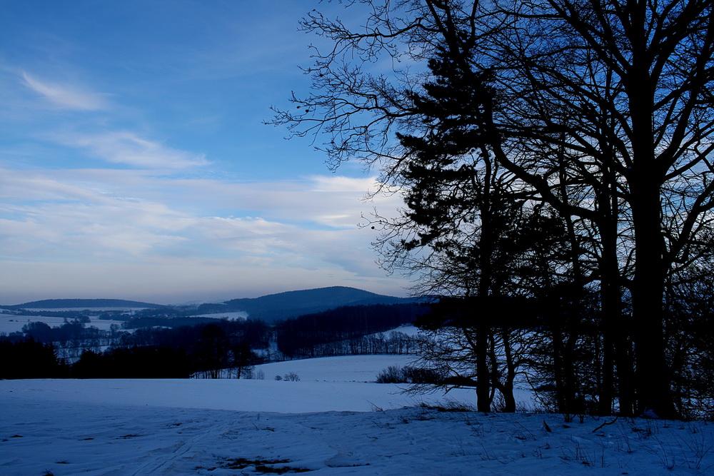 Frostige Aussicht