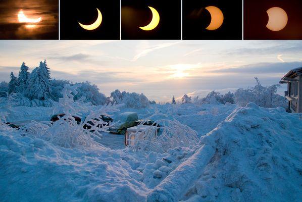 Frostige Sonnenfinsternis