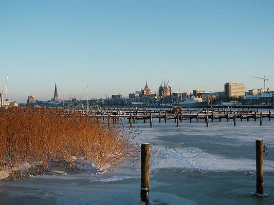 Frostige Temperaturen an der Warnow - bald wieder?